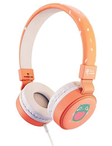 Planet Buddies Kinder kopfhörer, Lautstärkesichere Faltbare kabelgebundene Ohrhörer, On-Ear-Kopfhörer Kinder, ideal für Reisen, Schule, funktioniert mit Telefon, Tablet und Kindle, Rosa Eule