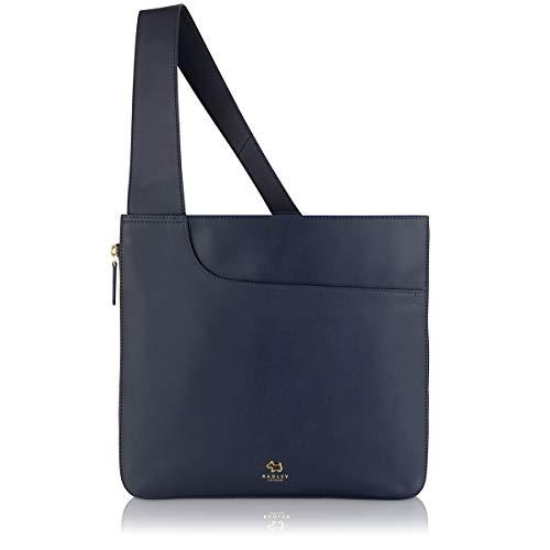 Radley London Womens Pockets Large Zip Around Leather Crossbody Large Dark Blue