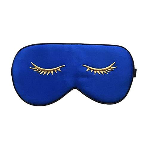 Schlafmaske aus 100% Seide, mit verstellbarem Riemen, bequem und super weich, Schlafhilfe, Augenbinde