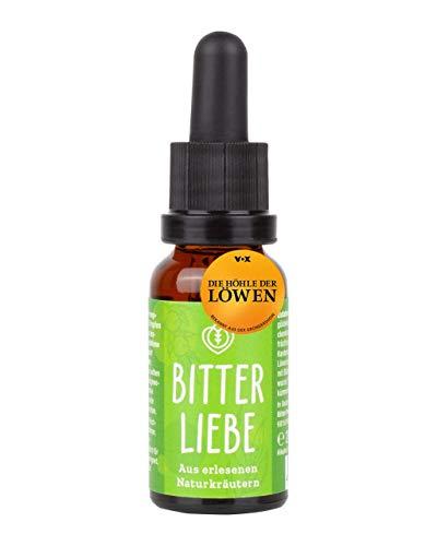 BitterLiebe® Bitterstoffe Tropfen in praktischer Reisegröße 20ml I Bittertropfen aus Die Höhle der Löwen I Hildegard von Bingen, Bitterkräuter