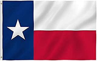 DANF Texas Flag 3x5 Foot Texas State Flags Polyester with Brass Grommets 3 X 5 Ft