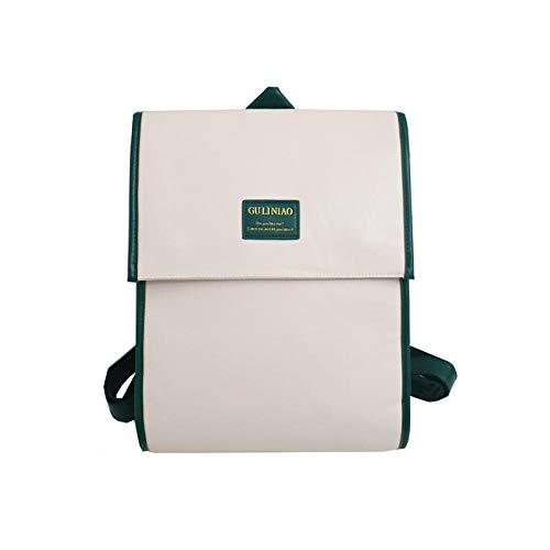 School Rucksack Shoulder Bags Backpack female clamshell multi-layer backpack campus student schoolbag-Beige