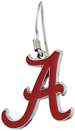 Siskiyou NCAA Sports Womens Alabama Crimson Tide Chrome Dangle Earrings One Size Team Colors