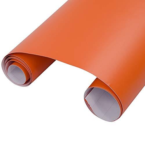 """liyandianzi Premium-orange Mattvinylauto-Verpackungs-Film-Auto Body Wrapping Aufkleber-Vinylfilm mit Luft-freier Luftblasen 1.52x0.5m / 60 """"x20"""" Autozubehör"""