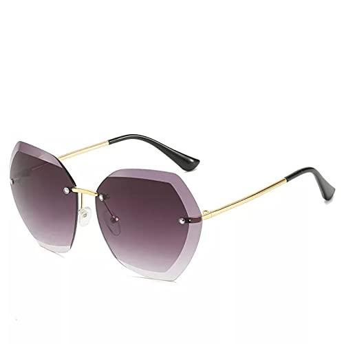 YTYASO Gafas de Sol de piloto sin Montura a la Moda para Mujer, Lentes de Corte gradiente, Gafas de Sol para Mujer, UV400