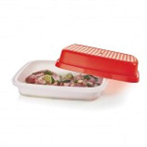 Tupperware Large Season Serve Container Chili Red with Sheer Seal