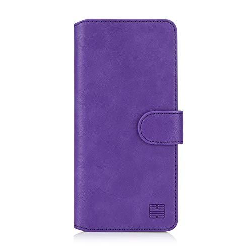 32nd Essential Series 2.0 - PU Leder Mappen Hülle Flip Case Cover für Samsung Galaxy A50, A50S und A30S (2019), Ledertasche hüllen mit Magnetverschluss & Kartensteckplatz – Violett
