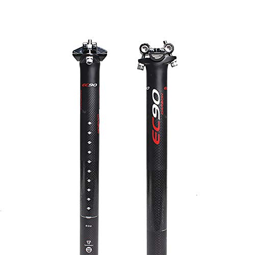 BUCKLOS US-Stock EC90 27.2/30.8/31.6mm Road Bike Seat Post, 3K Full Carbon Fiber Superlight Mountain Bike Seatpost, 350/400mm Bicycle Seat Post Round Tube.