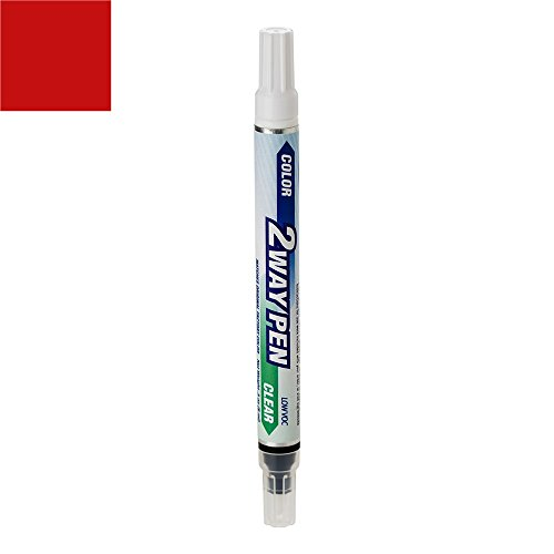 ExpressPaint 2WayPen - Automotive Touch-up Paint for Ford Mustang - Candy Apple Red T (1969) - Color + Clearcoat Only