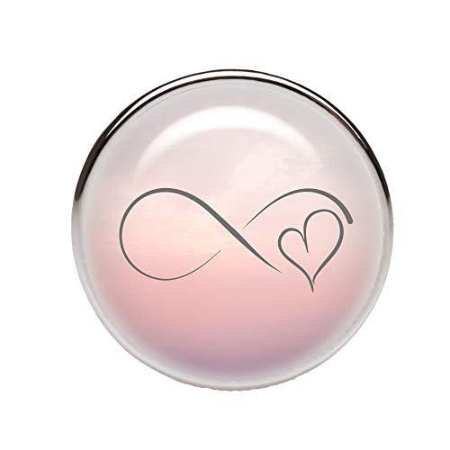 KT-Schmuckdesign Schiebeperle Infinity rosa Ombree 12mm