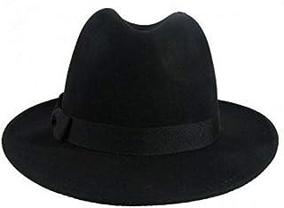 قبعات للجنسين قبعة فيدورا صوفية للشتاء للرجال والنساء قبعة تريلبي مرتفعة حواف عريضة قبعة سباق الخيول قبعة بتصميم مرن GH3131