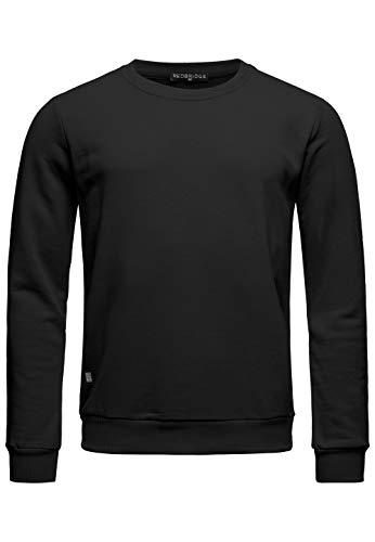 Red Bridge Herren Crewneck Sweatshirt Pullover Premium Basic,Schwarz-ii,M
