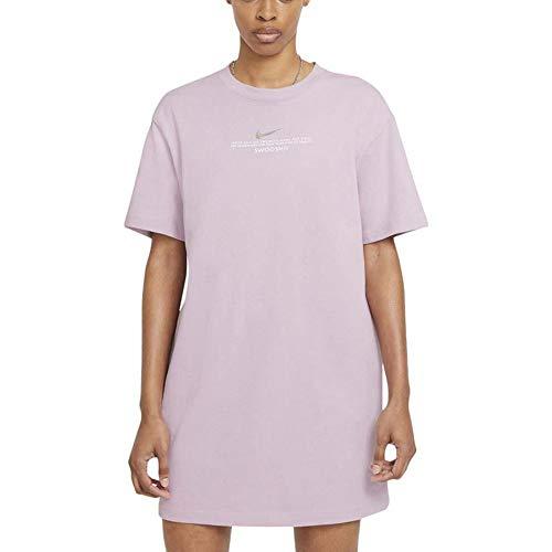 Nike Damen Kleid Swoosh Lila Code CZ9406-576, Pink Medium