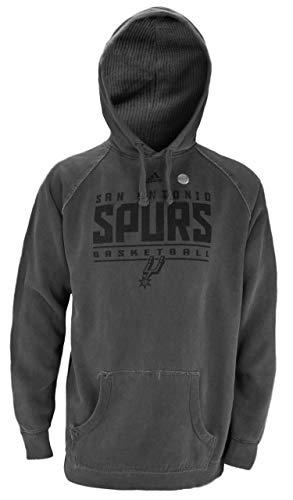 adidas San Antonio Spurs NBA - Sudadera con capucha para hombre, color gris, S, Gris