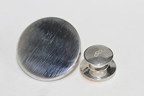 LINKS OF LONDON Plain Brooch Pin Badge Sterling Silver Blank Circle Disc NEW