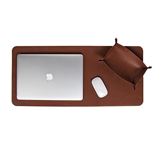 Skórzana mata/podkładka na biurko do biura i domowego biurka, ręcznie wykonana przez toskańskich artystów, brązowa (74 x 34 cm)