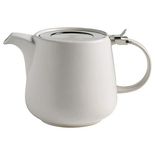 Maxwell & Williams AY0298 Tint Teekanne aus Porzellan, Weiß, 1200 ml