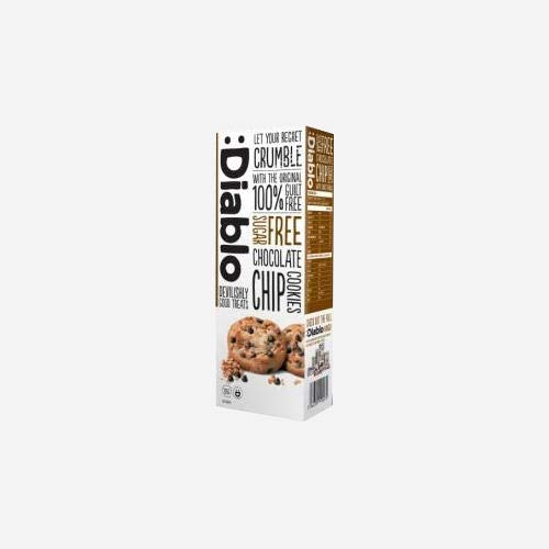 Diablo Chocolate Chips Cookies (zuckerfrei) Chocolate Chip 1 packung (6 kekse)