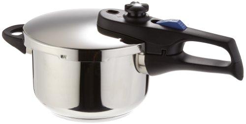 Elo Praktika XS - Olla a presión pequeña (2,7 litros), color plateado, acero inoxidable