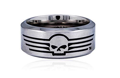 HARLEY-DAVIDSON MOD Steel Skull Band Ring, 10 = 20mm Ø