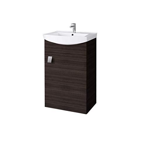 Planetmöbel Waschbecken mit Waschbeckenunterschrank/Waschtisch-Unterschrank 44cm Gäste Bad WC (Wenge)