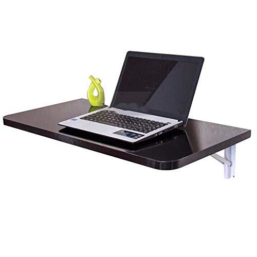 Mnjin Computertisch Klappbarer Wandtisch Tragbare Laptop-Arbeitsstation mit Drop-Leaf-Funktion Holzwerkstoffe, 4 Farben, 3 Größen