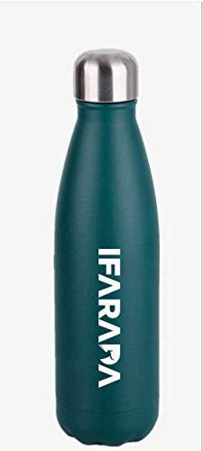 IFARADA Botella de agua isotérmica 500 ml de acero inoxidable reutilizable, conserva el calor 12 horas y el frío hasta 24 horas, doble pared, botella isotérmica sin BPA y ecológica
