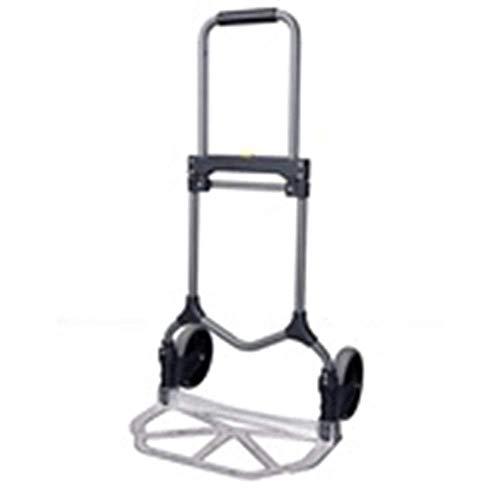 ZLININ Y-longhair - Carro plegable portátil para el hogar, carro de la compra, carrito de jardín, carro de goma de dos ruedas, remolque doméstico, carga 90 kg (color: A)
