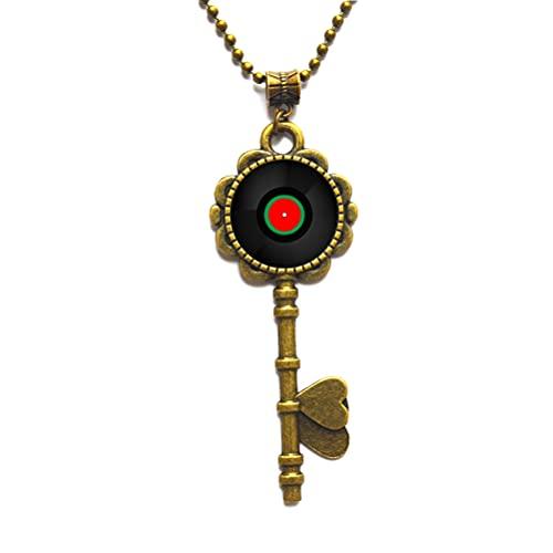 Collar de vinilo con llave de vinilo para DJ, regalo de arte, para hombres, para mujeres, regalos de arte, para ella, para él, accesorios para hombres, para mujer-JV270