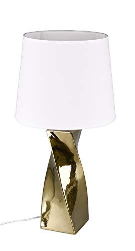 Reality Leuchten Abeba Lámpara de mesa, Color dorado, Höhe 68cm