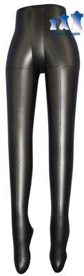 Aufblasbare Schaufensterpuppe, weiblich Bein Form, schwarz