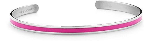 KEY MOMENTS Armreif - Lack Pink - Edelstahl silberfarbig - One Size