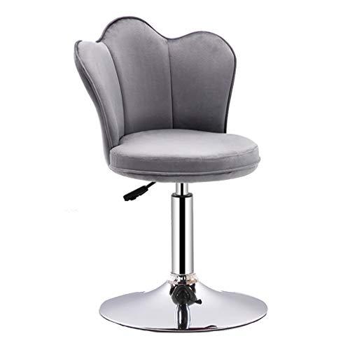 Chaises de bureau Chaise De Bar Chaise D'appoint Tabouret Haut De Salon Rotation À 360 ° Peut Supporter 90 Kg (Color : Gray, Size : 38.5 * 38.5 * 93-114cm)