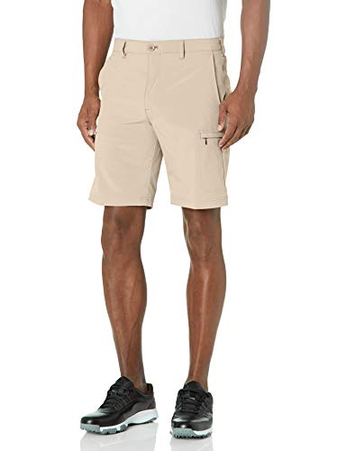 IZOD Men's Golf SwingFlex Cargo Short, Red Khaki, 36