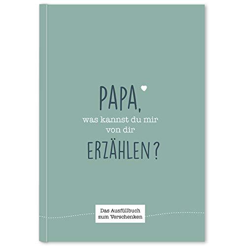CUPCAKES & KISSES® Papa was kannst du erzählen I Buch zum ausfüllen I Geschenke für Papa I Geschenk für Vater zum Geburtstag, Vatertag & Weihnachten