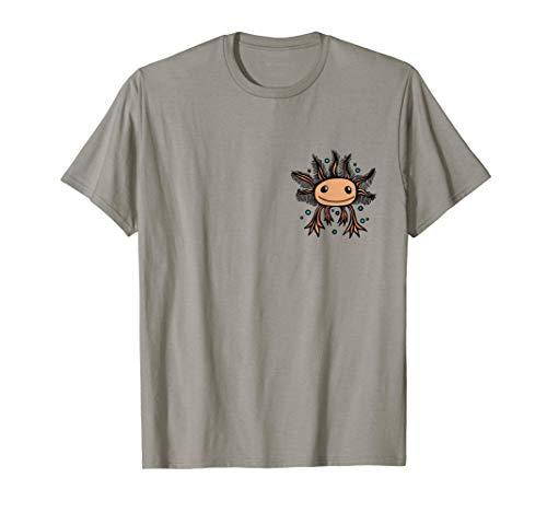 Süßer Baby Axolotl Kawaii Style Blubberblasen Wasser Tier T-Shirt