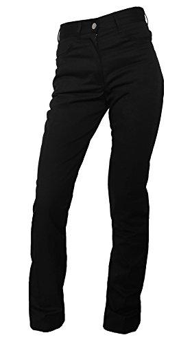 Damen Kochhose Bäckerhose Kellnerhose Jeans schwarz