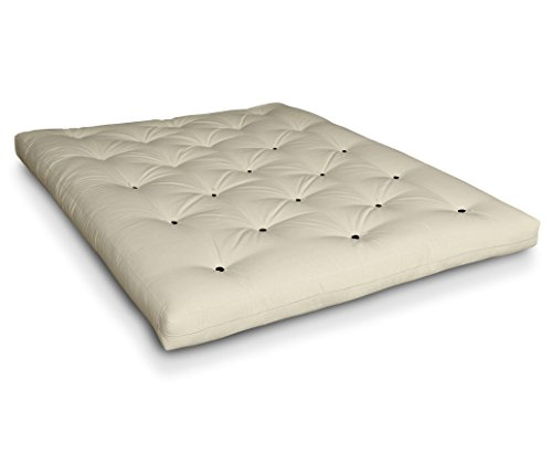 Futon Naoko Baumwollfuton Futonmatratze mit 6X Baumwolle von Futononline, Größe:160 x 200 cm, Color Futon SE Amazon:Natur/Filz schwarz