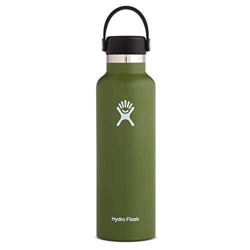 Hydro Flask Standard Mouth Water Bottle, Flex Cap - 21 oz, Olive