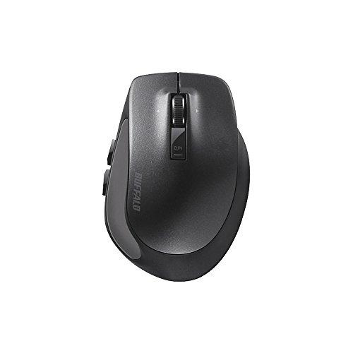 BUFFALOBluetoothBlueLEDプレミアムフィットマウスSサイズブラックBSMBB505SBK
