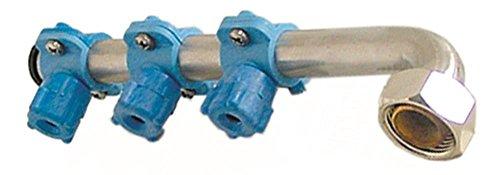 Silanos - Brazo de lavado para lavavajillas R20A, R20, Ambra, Rubinia EP, longitud superior 210 mm, 3 boquillas, altura 45 mm en ángulo/corto, 3 3/4'