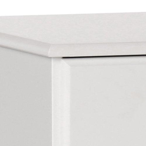 Furniture to Go Copenhagen 2 Plus 4-Drawer Chest, 90 x 83 x 39 cm, White