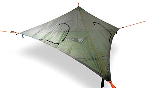 Tentsile Stealth 3-Person 2-in-1 Tree Tent (Dark Grey): 2-in-1 can be used as a full tree tent or a hammock