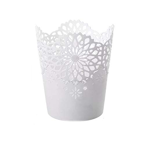 LAAT Pot de Fleur en Plastique Style Creux Floral Organisateur de Pinceau de Maquillage