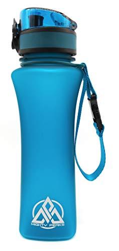 MIGHTY PEAKS Tritan Sport-Trinkflasche 500ml   BPA frei   Fruchteinsatz, Fruchtsieb   Auslaufsicher   Trinkflasche Kinder   Sportflasche   Plastikflasche   Weithalsflasche   Wasserflasche 500ml