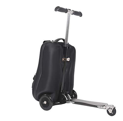 Sondre Multifunction Scooter Suitcase Travel Trolley Luggage Scooter Backpack (Black)