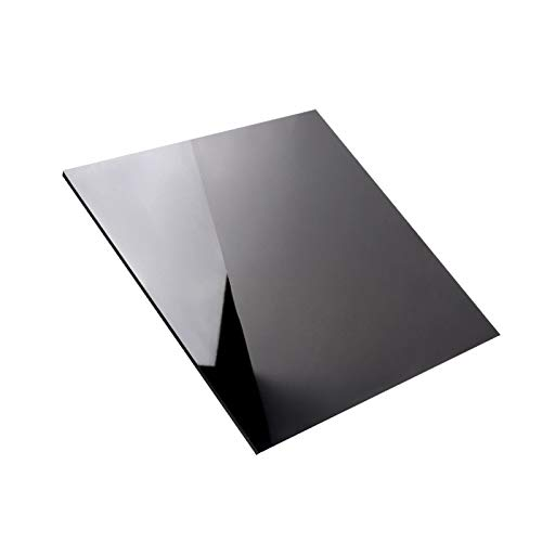 SQINAA Acrylic Sheet Acrylic Board Black Frosted 400x400mm, Used for LED lamp Holder Signs DIY Display Crafts,500x500x2mm