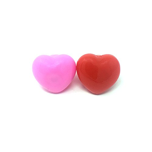 1 Pink 1 Red Heart Bumpy Glow in the Dark LED Glow Ring Flashing Jelly Rings LED Finger Lights for Kids Adults LED Ring Light Up Toys Party Favours Toy Ring Light Up Jewellery Light Up Rings Rave