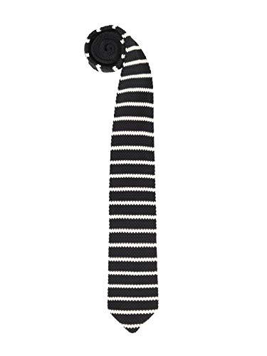 Hombres Corbata Estrecho de Punto Corbata Tricot con un Ancho de 6cm Narrow Tie Retro Sporty Casual Business Básica - Rayas Negro & Blanco