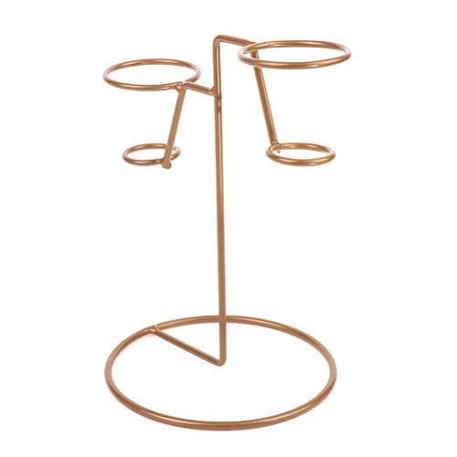 CAJHFIZHANGU 1 soporte de cono de helado de hierro con base de papel de alimentos soporte de cono estante de exhibición para la cocina casera
